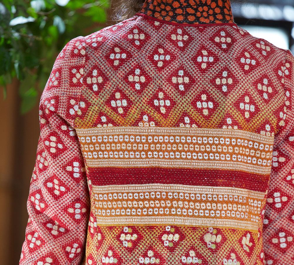 kantha mid length jacket