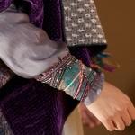 kimono style velvet & silk kantha