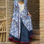 block printed pin_tucked jacket with block printed paneled skirt