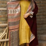 kantha long jacket (velvet & block printed cotten)