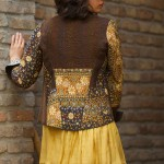 short kantha velvet jacket combined with block printed kantha