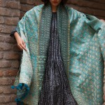 kantha old sari shawl