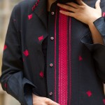 long black coat with baluchi embroidery