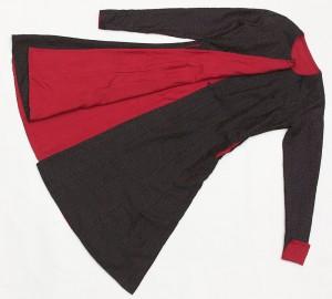 mughol dress coat with black kantha silk