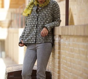 chikan embroidery long shirt