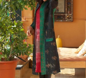 kantha long jacket (classic style)