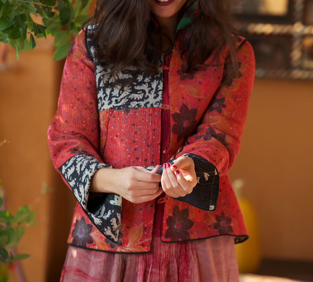kantha short jacket