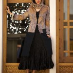 kantha dress coat on silk afghani skirt